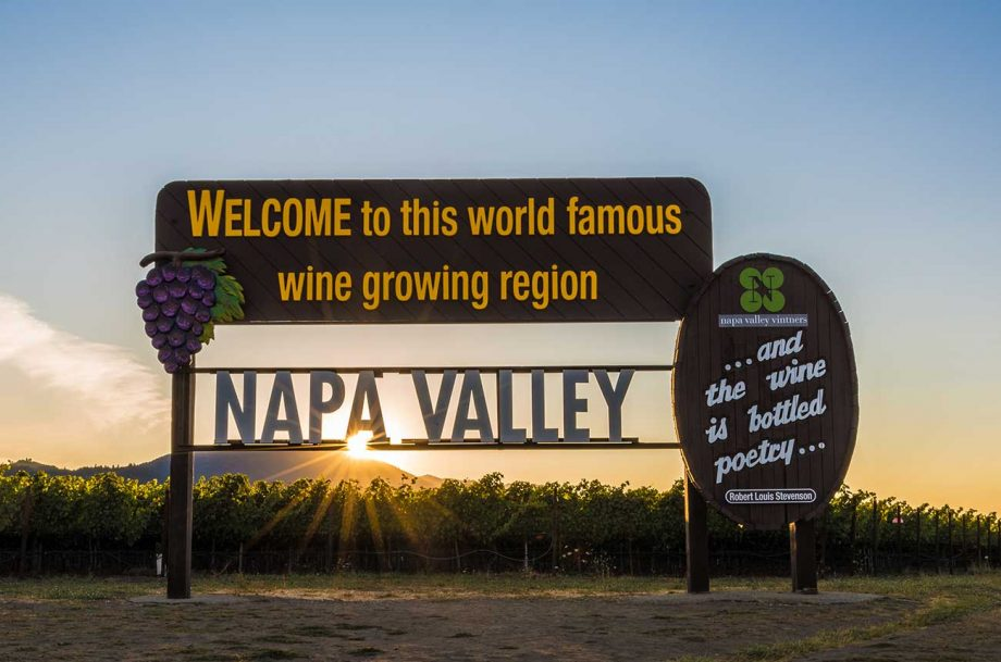 Napa Valley wine sale