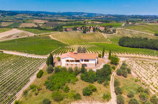 vineyard property tuscany, san gimignano