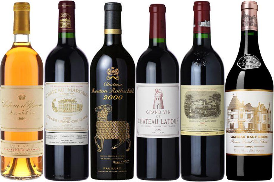 Bordeaux First Growths 2000 vintage