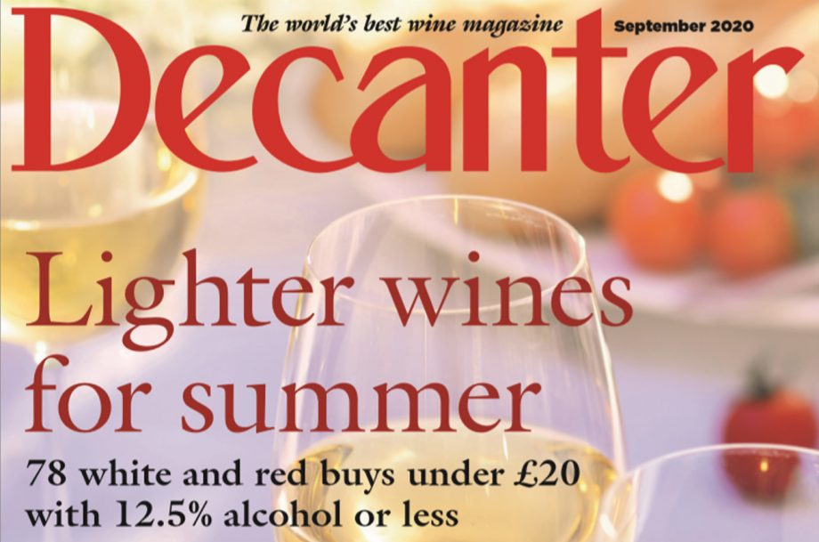 Decanter September 2020 issue