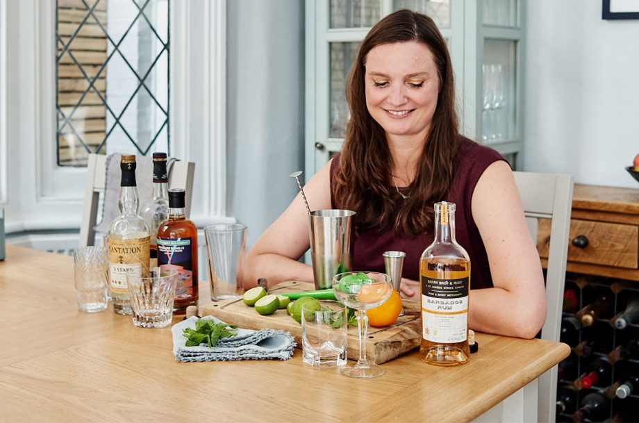 Laura Foster mixing rum cocktails