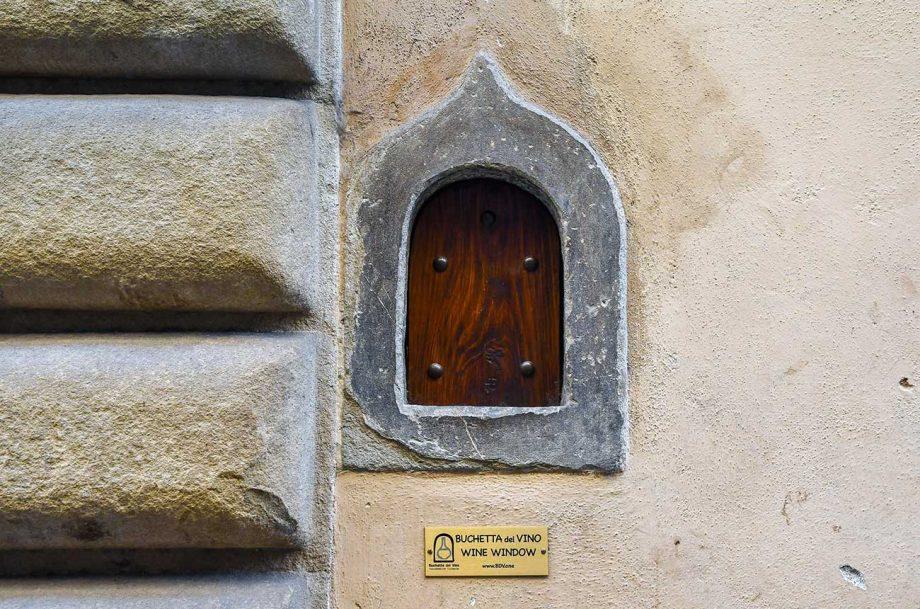 wine windows, florence