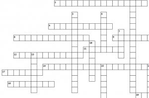 Sparkling Wine Crossword