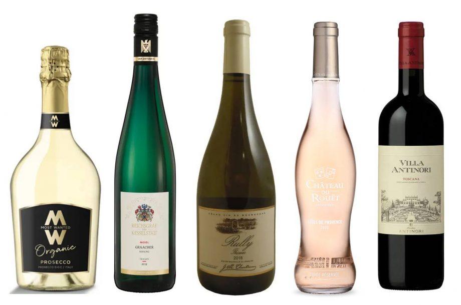 Five bottles of the best Co-op wines