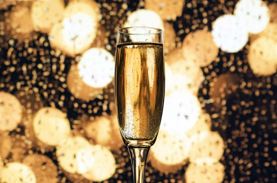 Black Friday Champagne deals; glass of Champagne