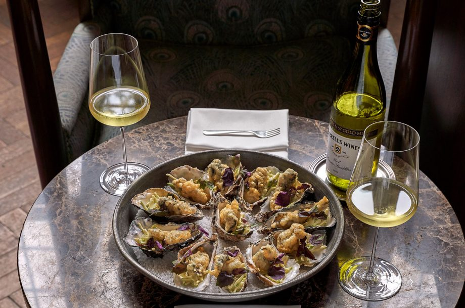 Oysters tempura, Appetisers wine pairing