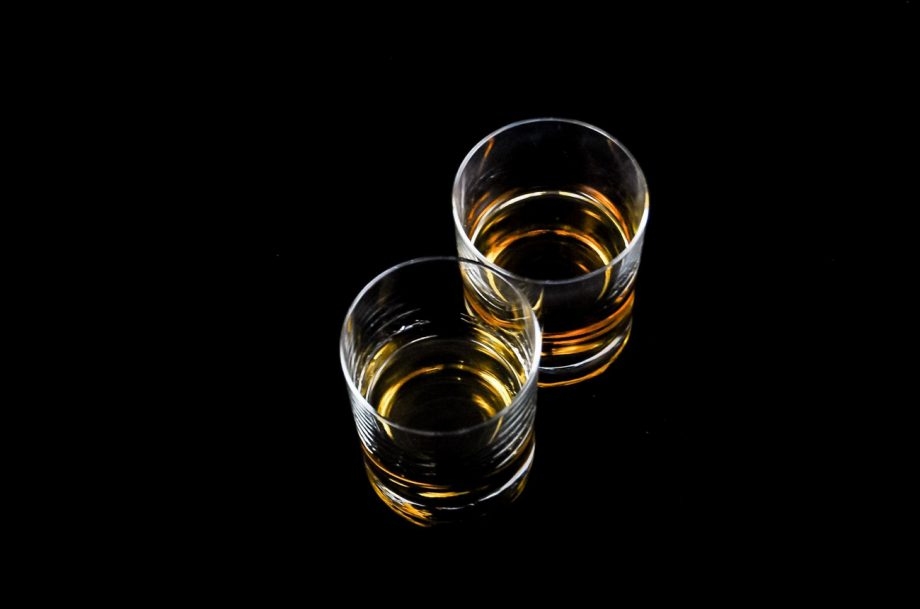 Two tumblers of whisky