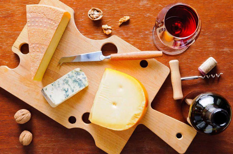 wine cheese brain