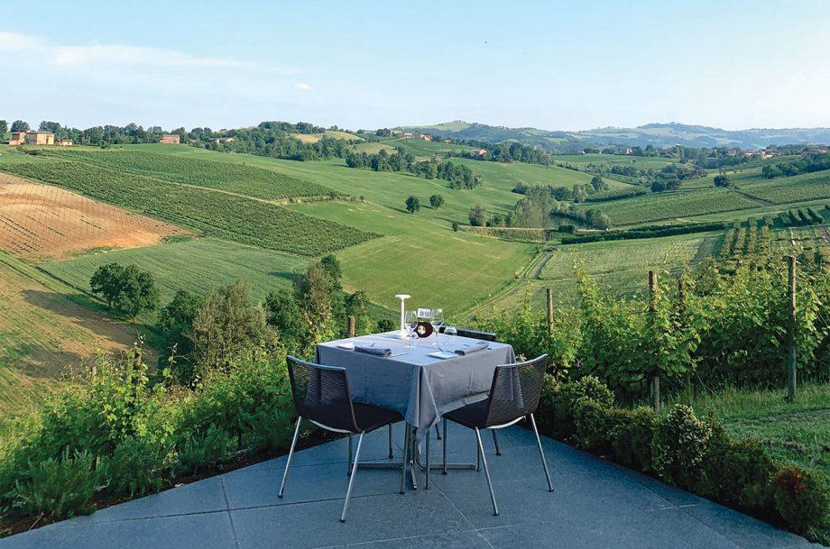 The scenic view at Opera O2 winery; Emilia Romagna travel