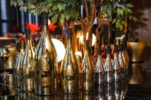 Bottles of Armand de Brignac Champagne