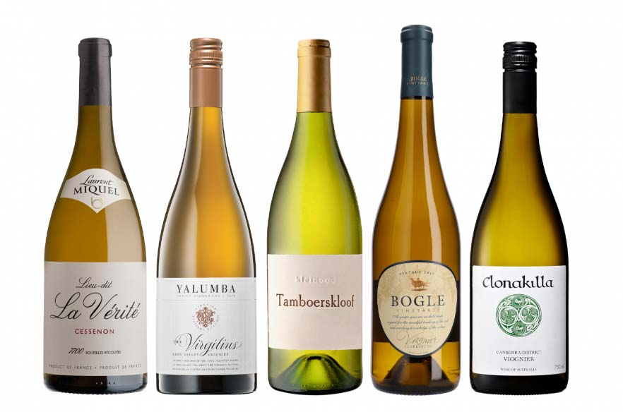 bottles of viognier wines
