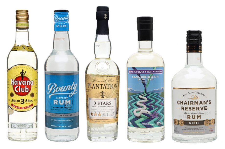 Best white rums for cocktails