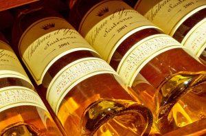 Sauternes 2001, Château d'Yquem bottles