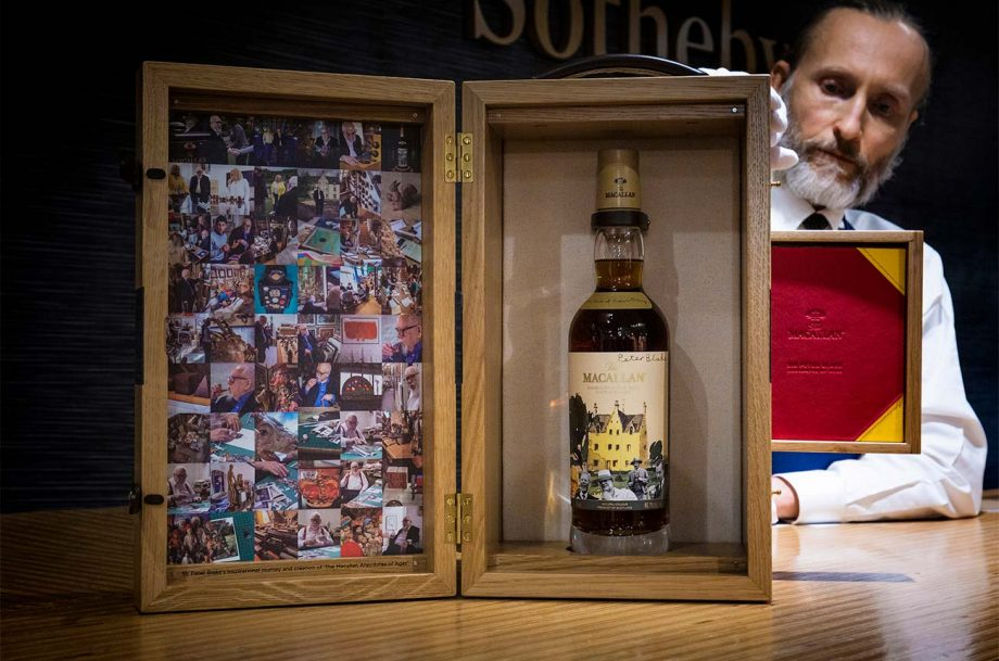 The Macallan 1967 with Sir Peter Blake design, sold at Sotheby's spirit auction