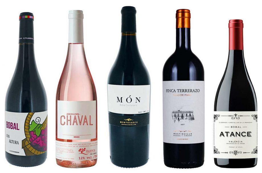 A selection of Bobal wines