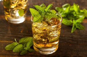 A mint Julep Bourbon cocktail