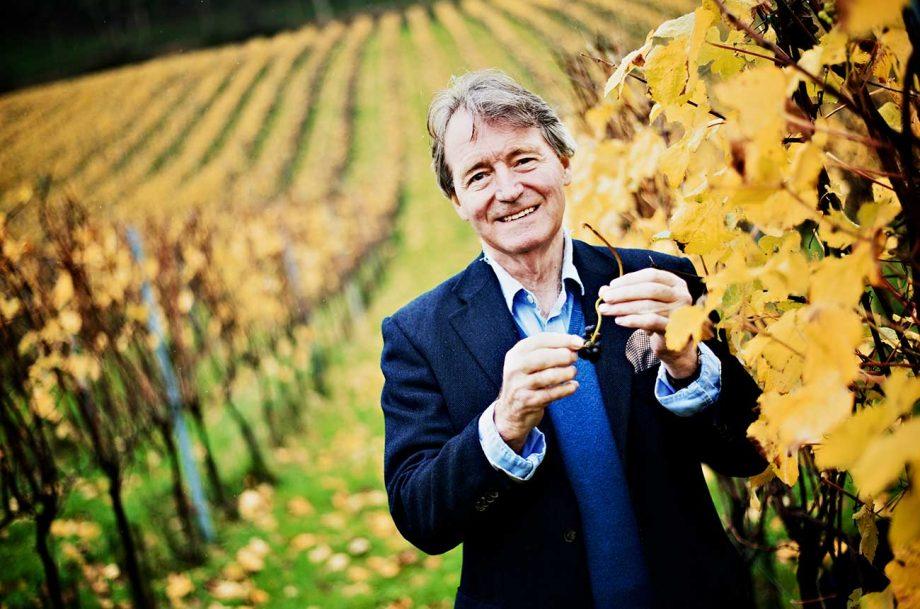 Steven spurrier dies, Spurrier at his home, Bride Valley English wine estate