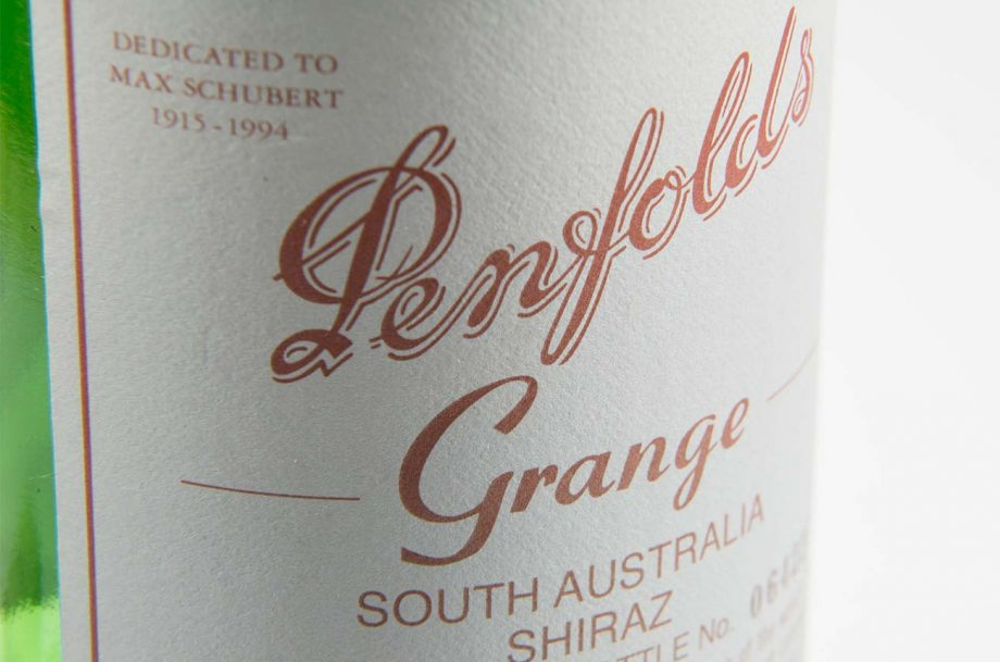 A bottle of Penfolds grange