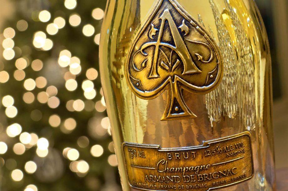A bottle of Armand de Brignac Champagne