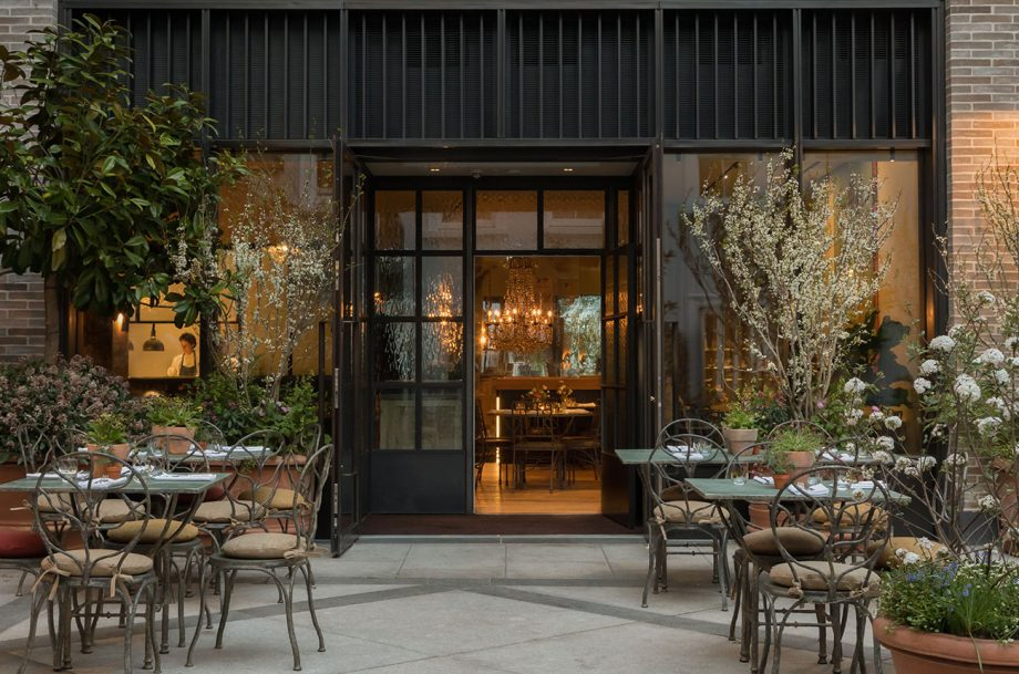 The terrace at The Petersham