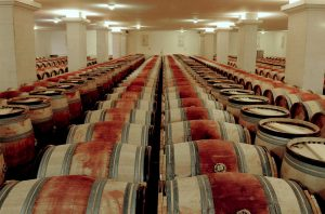 Barrels of wine ageing at Cheval Blanc in Bordeaux, where the 2020 en primeur campaign is soon to begin.