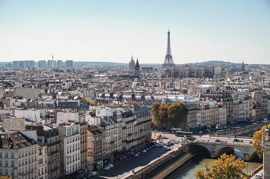A view of the skyline in Paris, where police have been looking into claims of clandestine dinner parties.