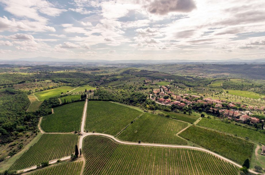 Gaiole in Chianti, looking towards Siena
