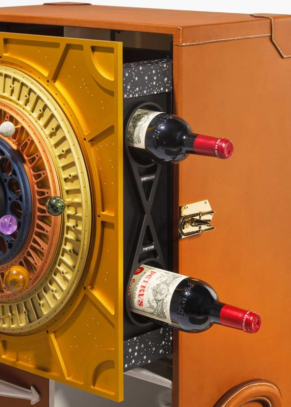 Space-aged and earth-aged Petrus 2000 in the bespoke case to be sold by Christie's  - Petrus 2000 Christies case 594x830 - Petrus wine aged in space to go on sale at Christie's for possible $1million