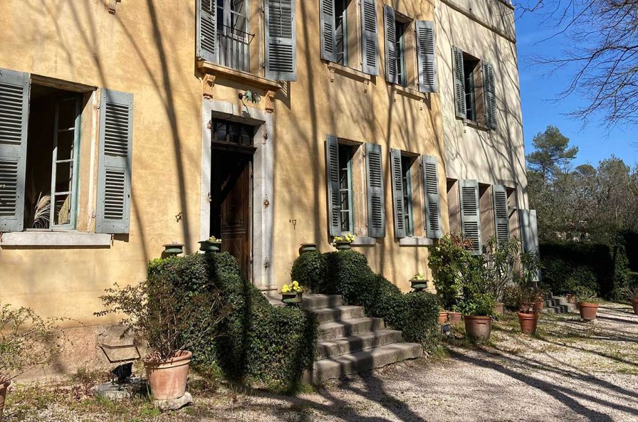 Provence mansion with vineyard land listed for sale in 2021.