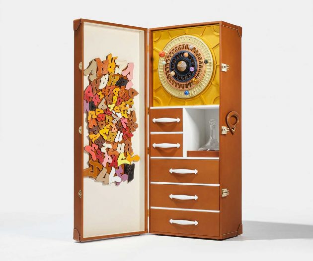 A bespoke case housing Petrus space wine to be sold by Christie's  - petrus 2000 christies space case full 630x527 - Petrus wine aged in space to go on sale at Christie's for possible $1million