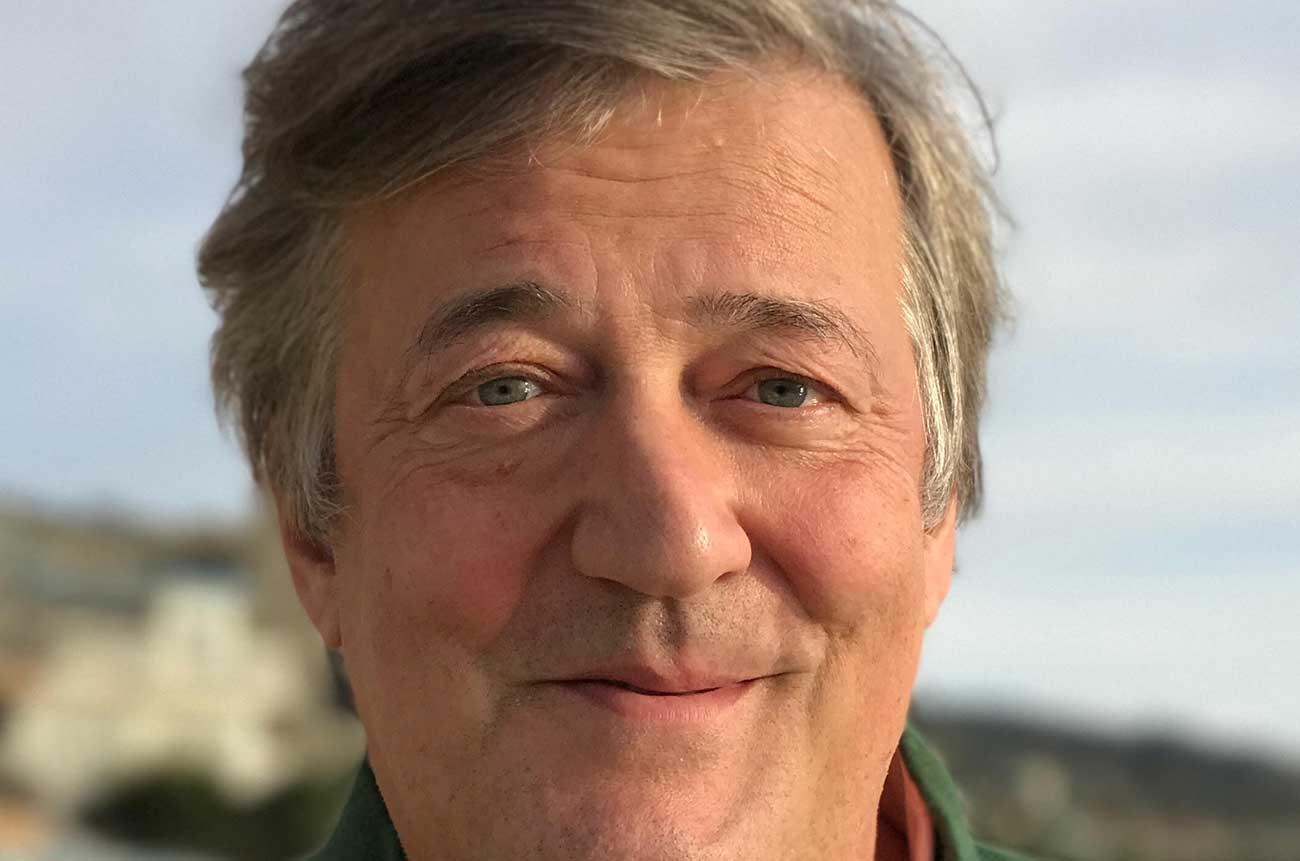 Stephen Fry credit photographer Elliott Spencer.