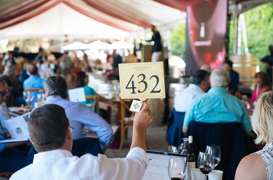 Bidding at the Premiere Napa Valley auction