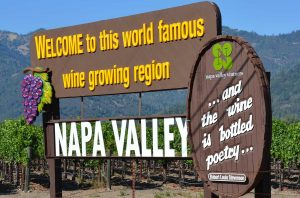 A welcome sign in Napa Valley, home of the new 'Collective' philanthropy programme.