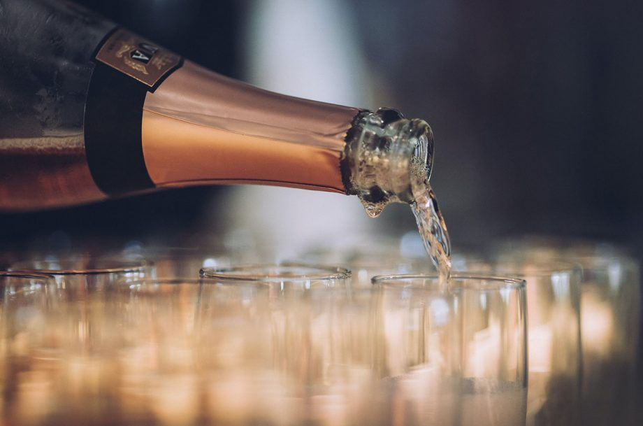 pouring sparkling wines