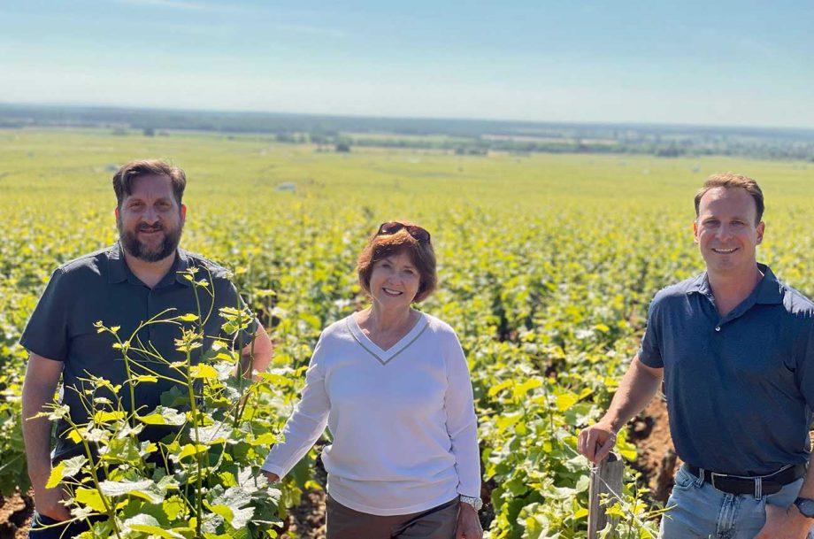 From Oregon to Burgundy vineyards: The Evenstad Estates team