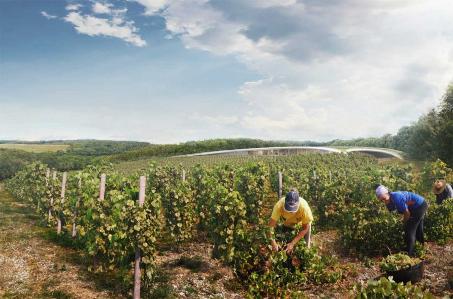 Lord Foster and his team have designed plans for a UK winery being proposed in Kent.