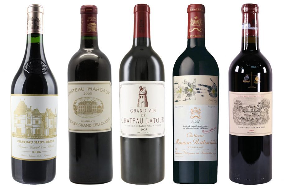 Bordeaux 2005 first growths