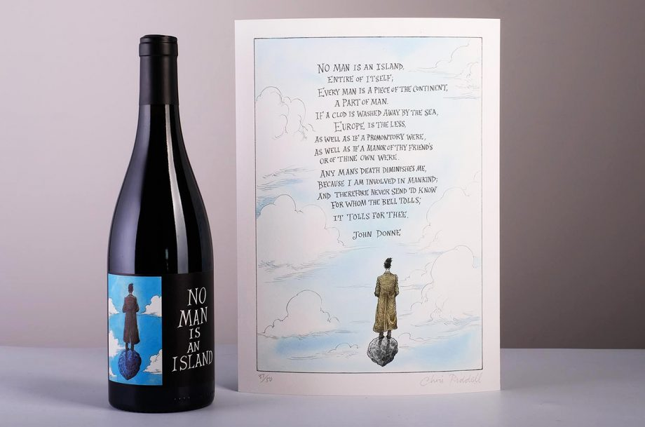 no man is an island Hospitality Action charity wine