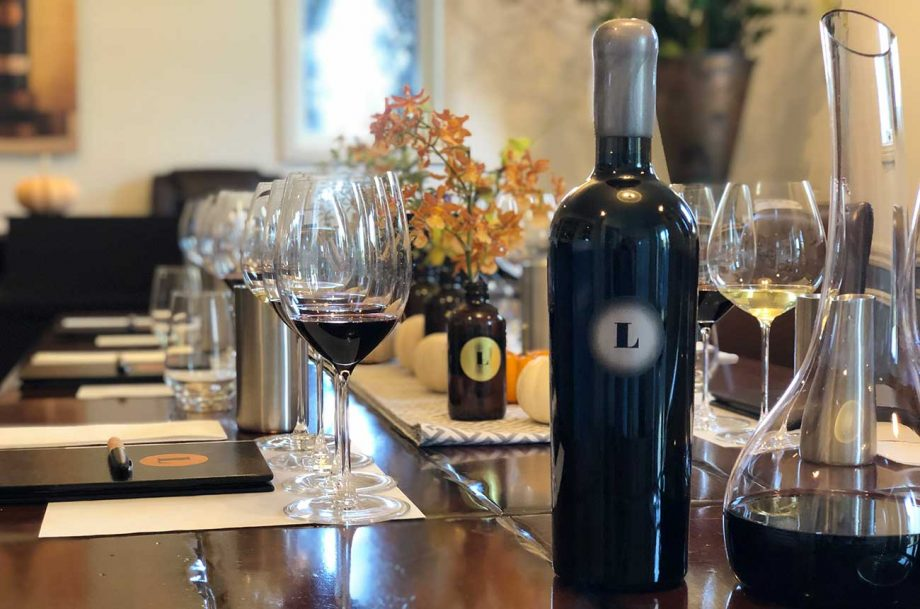 Lewis Cellars 'Cuvee L' wine tasting
