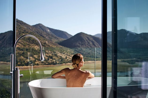 VIK Chile vista desde la bañera
