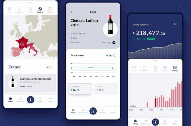 Así funciona la aplicación móvil 1275 para vinos finos.