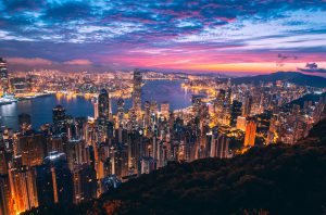 A view across Hong Kong.