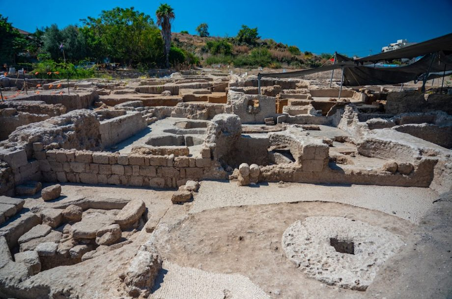 An ancient winery near Yavne in Israel that dates back 1,500 years