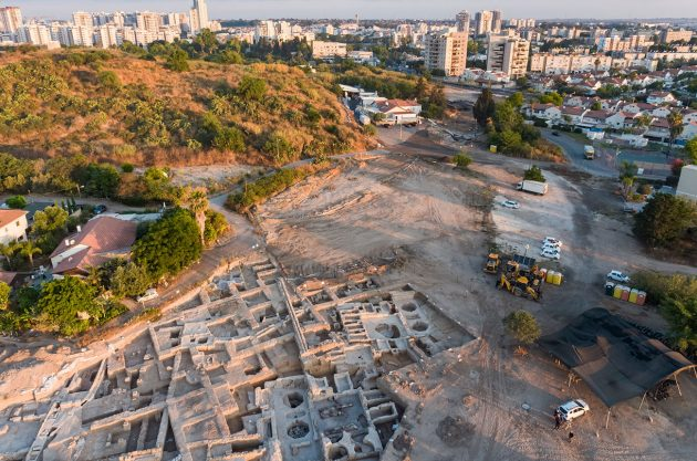 Antigua bodega cerca de Yavne en Israel