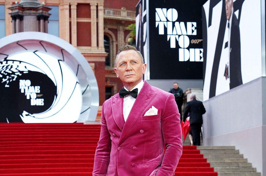 James Bond actor Daniel Craig at No Time To Die film premiere.