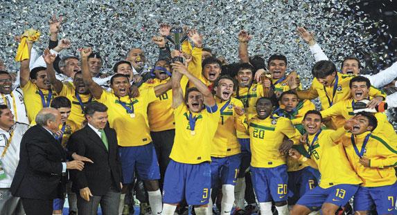 Brazil celebrate their triumph