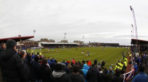 Football - Arbroath v Rangers William Hill Scottish FA Cup Fourth Round  - Gayfield Park - 8/1/12 General view of Gayfield Park Mandatory Credit: Action Images / Jason Cairnduff Livepic