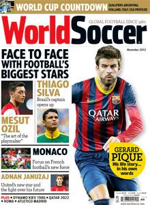 November 2013 issue of World Soccer