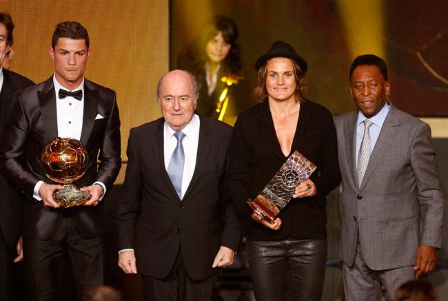Cristiano Ronaldo wins the FIFA Ballon d'Or