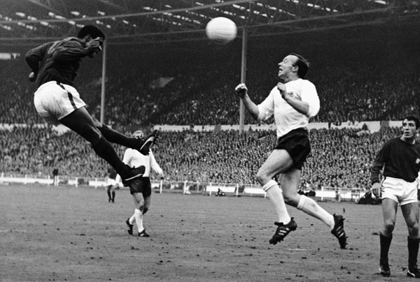 Eusebio in action at World Cup